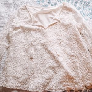 Hollister Cropped Lace Blouse
